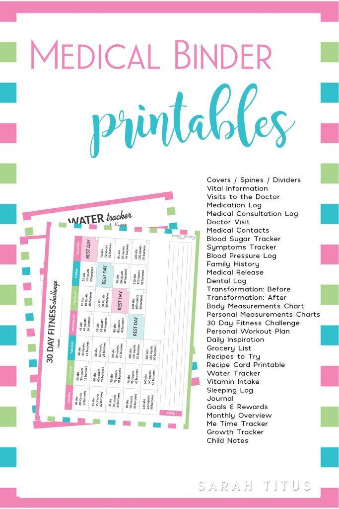 medical binder organize pinterest binder medical and printables