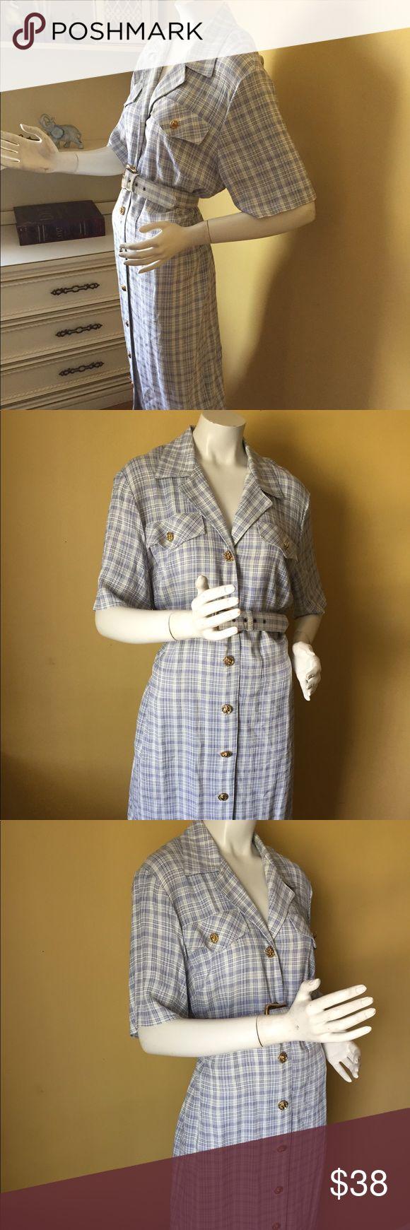 "Vintage Tracy Edwards petite dress Vintage Tracy Edwards petite dress. Union label. 55% acetate, 45% rayon. Length 42.5"", waist 40"", bust 47"". Vintage Dresses"