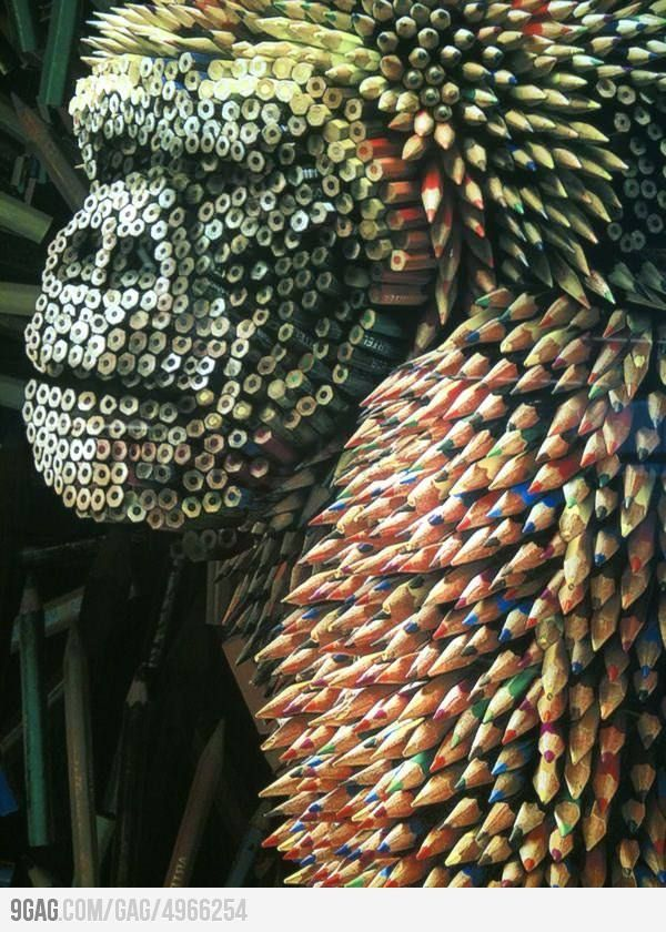 Pencil Art This is a Very Unique way of using All your Color Pencils. Just so Cool.