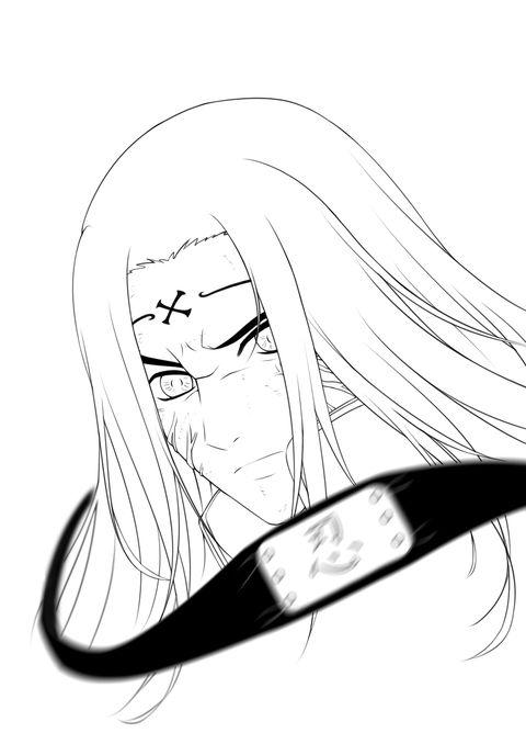 how to draw neji hyuga