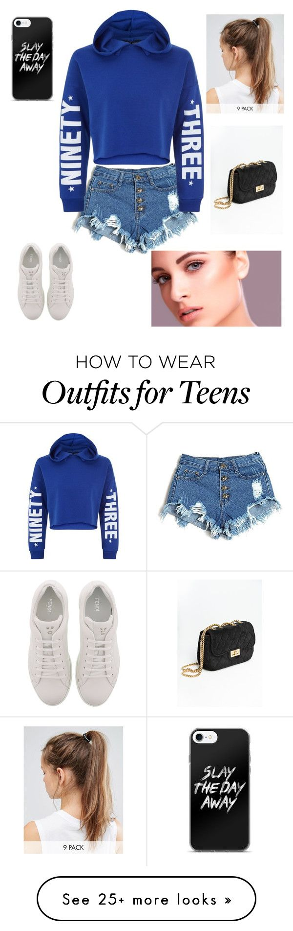 """""""Untitled #5"""" by niall-polish on Polyvore featuring New Look, Fendi and NIKE"""