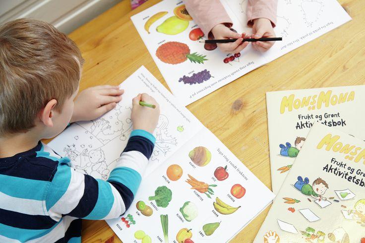 Mons og Mona er 5 om dagen - barnehage sine egne maskotter. Lek gir læring. Og gjennom figurene lærer barna om frukt, bær og grønnsaker, - om hvordan de ser ut og hvordan de smaker.
