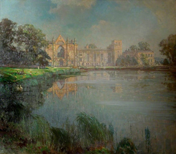 Newstead Abbey, Nottinghamshire  by Arthur Spooner        Date painted: 1944