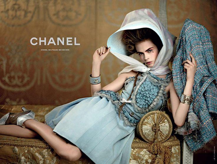 Cara Delevigne for Chanel Resort 2013   Shot by Karl Lagerfeld