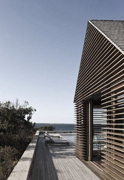 Slatted exterior, louvres