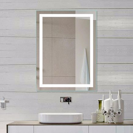 Bathroom Mirrors Lit From Behind best 25+ illuminated mirrors ideas on pinterest | bathroom mirror