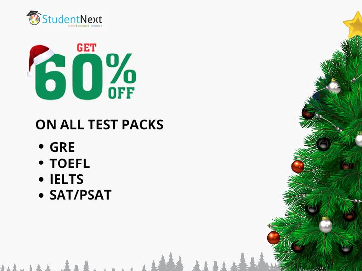 Christmas Sale - Get 60% Off on GRE, IELTS, TOEFL, SAT & PSAT. Find more details at http://studentnext.com/