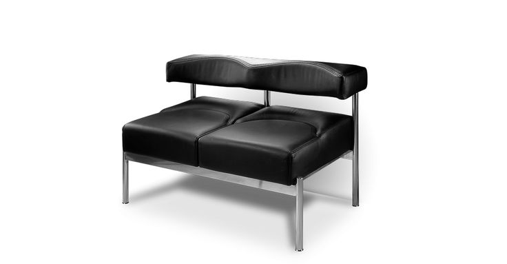 Современный диван. Кожаный диван. Диван с металлическими ножками. Диван в переговорную. Диван для зала ожидания. Диван для ресторана, кафе. Диван Плаза — характеристика. Диван для магазина
