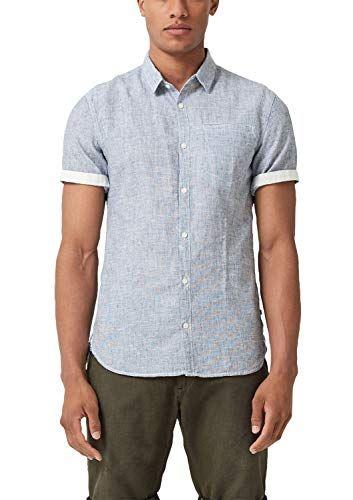 Q/S Designed by Herren Extra Slim: Hemd mit Leinen…