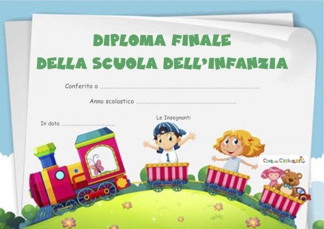 Diploma fine scuola dell'infanzia