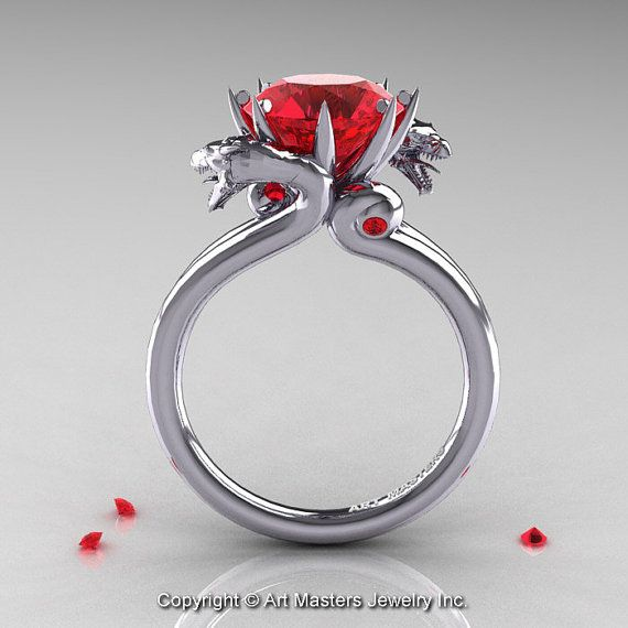 Art Masters 14K White Gold 3.0 Ct Rubies Designer by artmasters, $2249.00