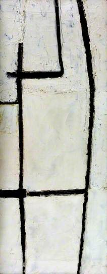Roger Hilton, Black on White, oil on canvas, March 1954