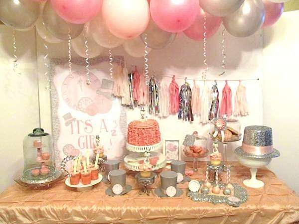 new year 39 s eve boy girl glittery glam baby shower planning ideas