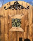 Wrought Iron Door Valance for Wood Gates or other Entry way
