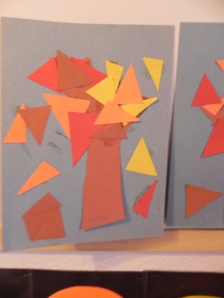 Greatest Resource Preschool - Handprint tree with triangle leaves