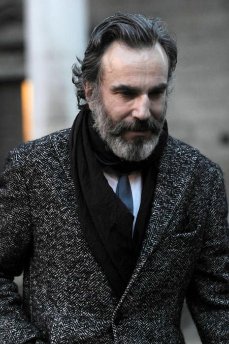 jhilla: lexusbest: Daniel Day-Lewis. The Best THERE WILL BE TWEED (Source: pageofconcrete): Beards, Daniel Day Lewis, Men S Fashion, Handsome Guy, Style, Actors, People, Coat