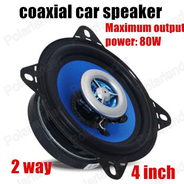2 pieces hot sale Automotive Car Speaker 2 way 2x80W 4 Inch Car Speakers Auto Audio Sound System Coaxial