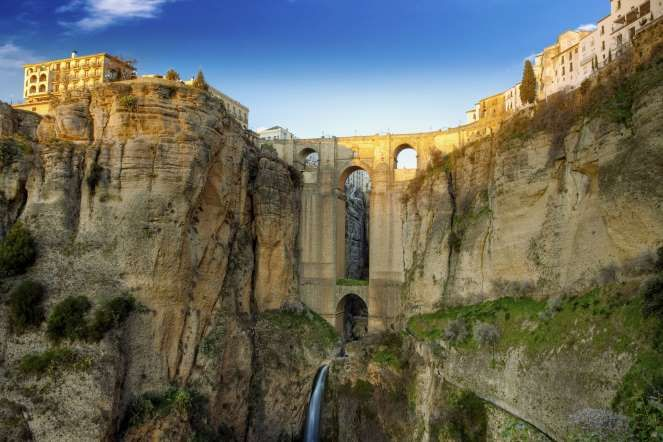 The most beautiful bridges around the world. The village of Ronda in Andalusia, Spain. - Fesus Robert/Getty Images