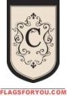 """Monogram """"C"""" Estate Flag - 4 left"""