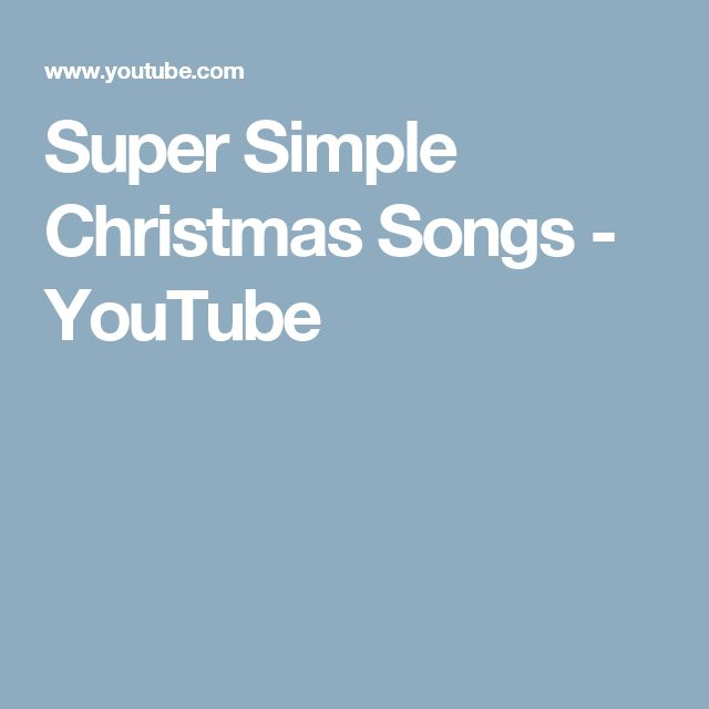 Super Simple Christmas Songs - YouTube