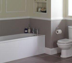 Grey Lower Half Of Wall Bathroom Pinterest