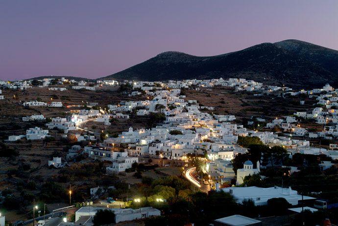 Stadskanskap - Landskapsstad Apollonia - Sifnos Grekland