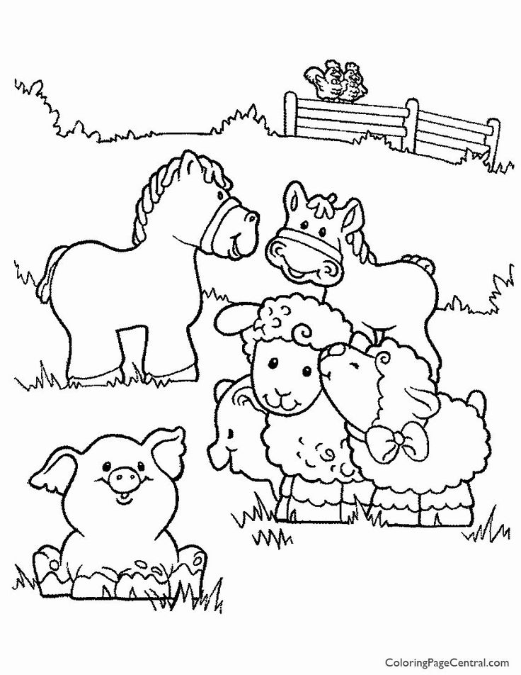 farm animal horse coloring pages best of farm animals 01