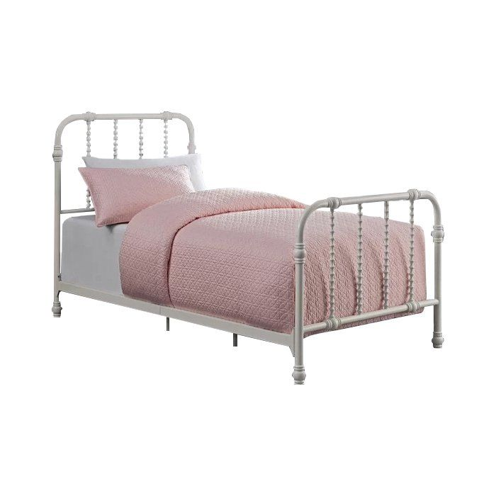 Robyn Twin Slat Bed Girls Bedroom Makeover Bed Slats Iron Bed