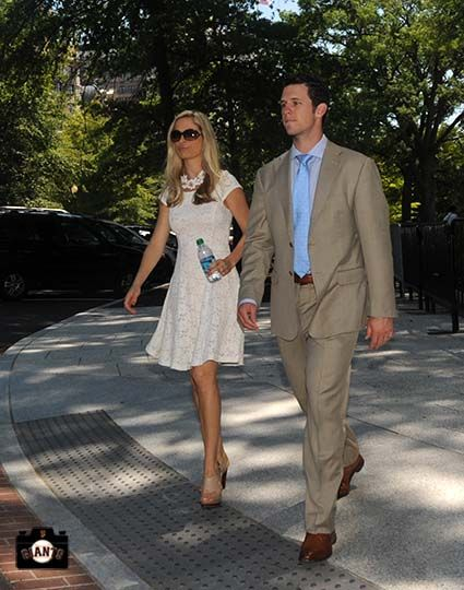 Kristen & Buster Posey, White House visit July 29, 2013