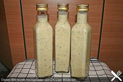 Salatsauce auf Vorrat (4Wochen im Kühlschrank haltbar)
