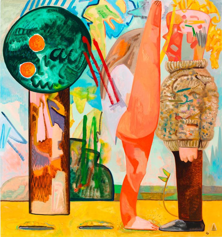 Dana Schutz : Hop Piano in the Rain exhibit at Friedrich Petzel Gallery