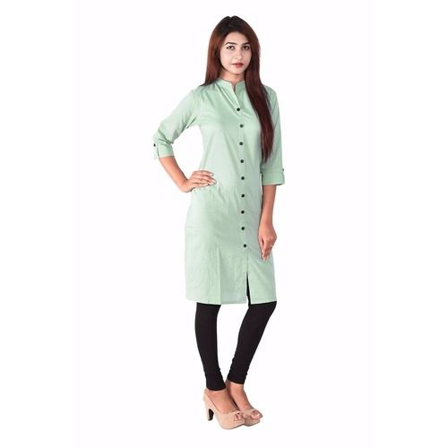 Saiveera Latest Pista Green Cotton Long Kurti-sv1624 Saiveera Fashion is a #Manufacturer Wholesaler,Trader, Popular Dealar and Retailar Of wide Range Salwar Suit, Dress Material, Saree, Lehnga Choli, Bollywood   Collection Replica, and Also Multiple Purpose of Variety Such as Like #Churidar, Patiala, Anarkali, Cotton, Georgette, Net, Cotton, Pure Cotton Dress   Material. For Any Other Query Call/Whatsapp - +91-8469103344.