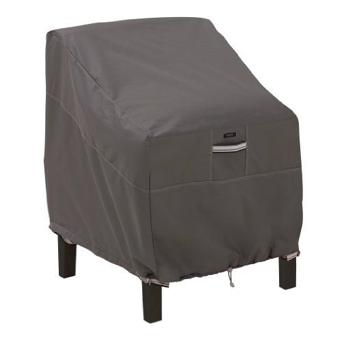 Classic Accessories Ravenna Lounge Chair Cover - Premium Outdoor Chair Cover with Durable and Water Resistant Fabric Taupe (55-160-015101-EC)