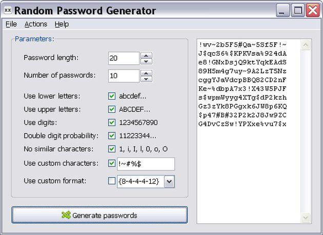 RandPass, un sencillo y práctico generador de contraseñas seguras en versión portable