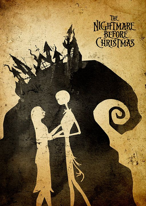 Tim Burton Nightmare Before Christmas Minimalist