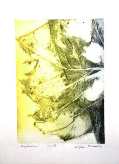 Niewypowiedziane,Martyna Bocheńska sucha igła, 30 x 40 cm