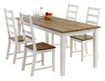 Pöytä RYSLINGE P180/270+4tuolia RYSLINGE   JYSK
