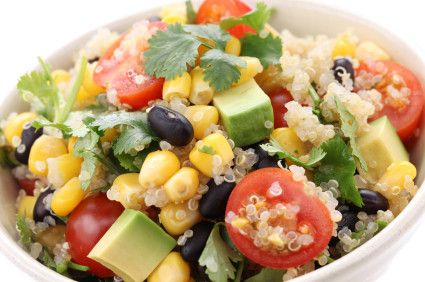 Quinoa Salad With Black Beans & Avocado