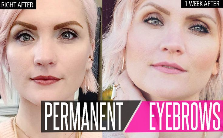 all about permanent eyebrows and what they look like in real life.