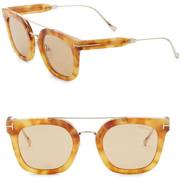 Tom Ford Eyewear 50MM Wayfarer Sunglasses ($475) ❤ liked on Polyvore featuring men's fashion, men's accessories, men's eyewear, men's sunglasses, men's wayfarer style sunglasses, mens sunglasses, mens wayfarer sunglasses, mens eyewear and tom ford mens sunglasses