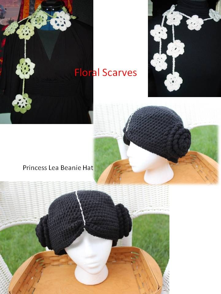 Custom Floral Crochet Scarves Specify the colors or color combos you would like