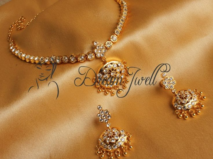 Craftsvilla - BEAUTIFUL GOLD TONE TRADITIONAL SOUTH INDIAN STYLE WHITE ATTIGAI - Dreamjwell