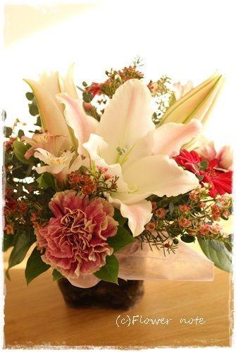 『【今日の贈花】金婚式のお祝花』http://ameblo.jp/flower-note/entry-11718572078.html