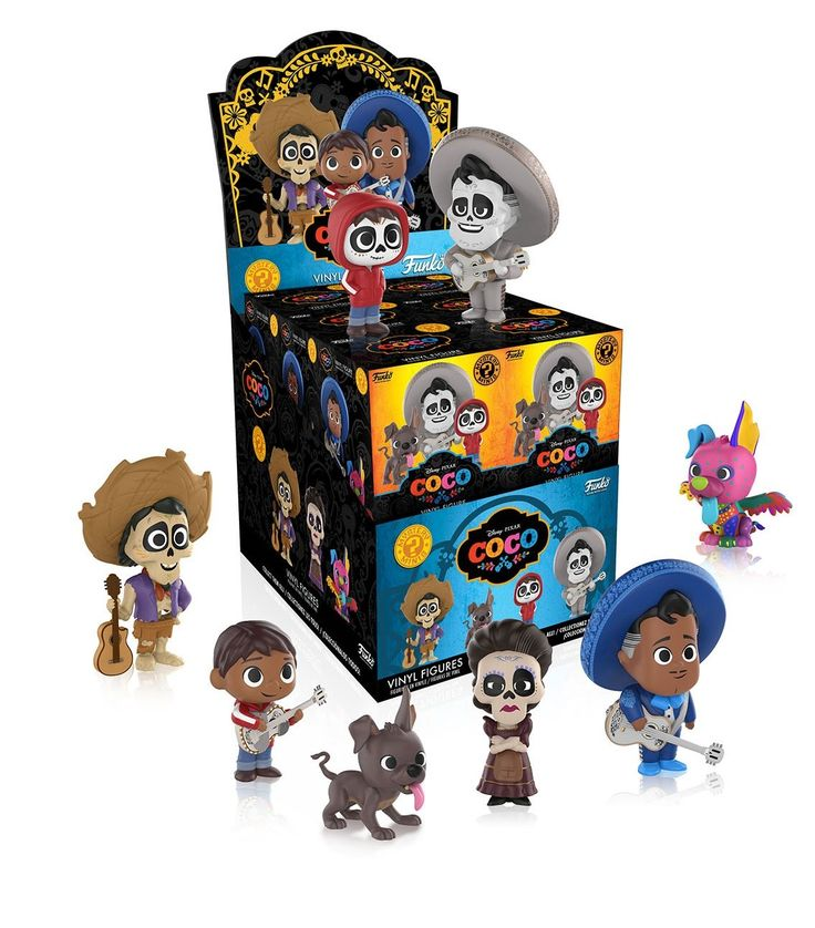 Funko Mystery Mini: Disney/Pixar-Coco (One Mysery Figure) Collectible. Your favorite characters from Disney/Pixar, as stylized vinyl mystery MINIS from Funko!. Stylized collectables stand 3 inches tall, perfect for any Disney/Pixar fan!. Collect and display all Disney/Pixar mystery MINIS!.