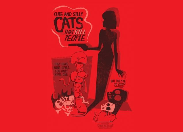 """""""Cat Shirt"""" - Threadless.com - """"cute and silly cats that kill people!"""""""