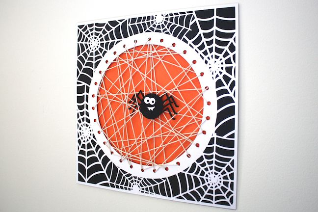 Silhouette America Blog | String Spider Web | Kid's Halloween Craft