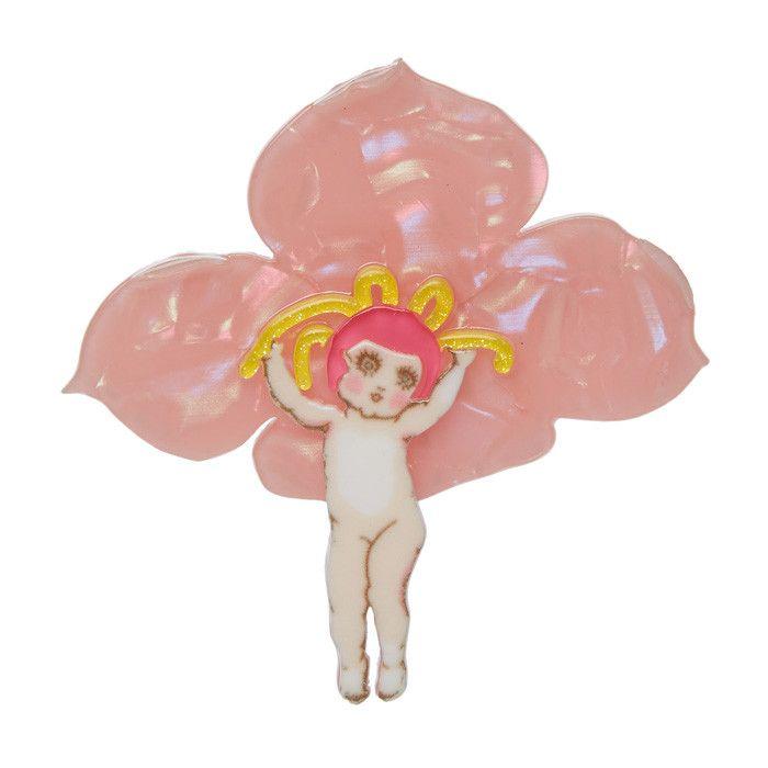 Erstwilder Pink Boronia Brooch