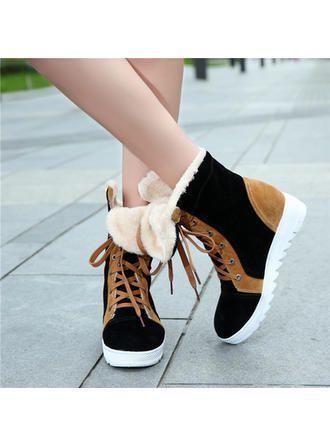 VERYVOGA Frauen Flache Schuhe Geschlossene Zehe Niederiger Absatz Veloursleder Z