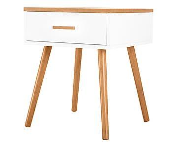 1 Table de chevet, blanc - L40