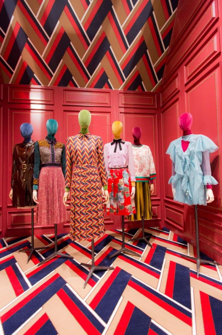 """DOVER STREET MARKET, New York, """"Ready, set, open! Gucci's new space at Dover Street Market is open for business"""", photo/creative by The Display Shop, pinned by Ton van der Veer"""